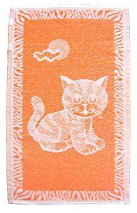 Zvětšit fotografii - Dětský ručník - Kotě oranžové