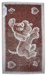 Zvětšit fotografii - Dětský ručník Pejsek hnědý