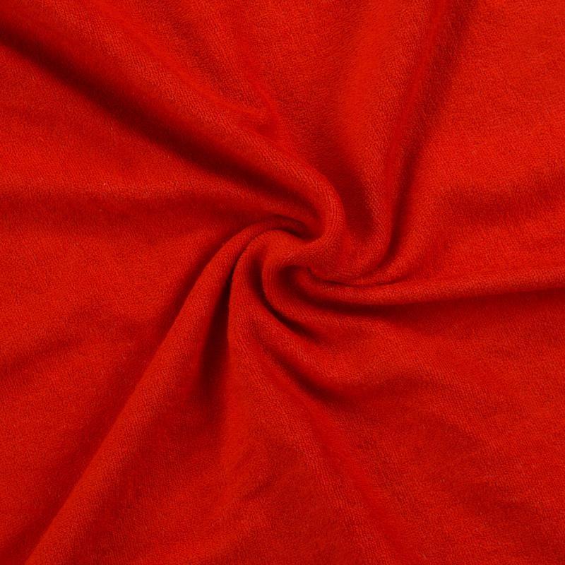 Froté prostěradlo červené rozměr 70x140 cm.