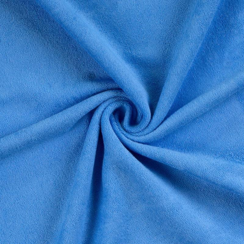 Froté prostěradlo modré rozměr 70x140 cm.