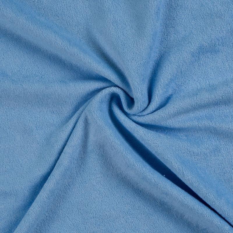 Froté prostěradlo světle modré rozměr 70x140 cm.