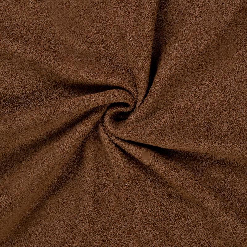 Froté prostěradlo tmavě hnědé rozměr 70x140 cm.