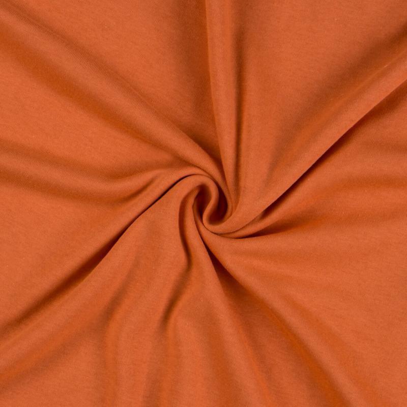 Jersey prostěradlo terakota rozměr 70x140 cm.
