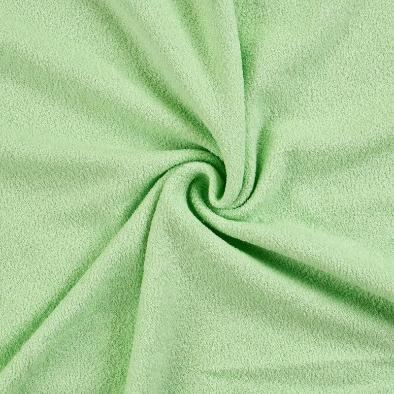 Froté prostěradlo světle zelené rozměr 70x140 cm.