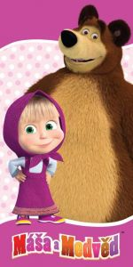 Zvětšit fotografii - Osuška Máša a medvěd 70x140 cm