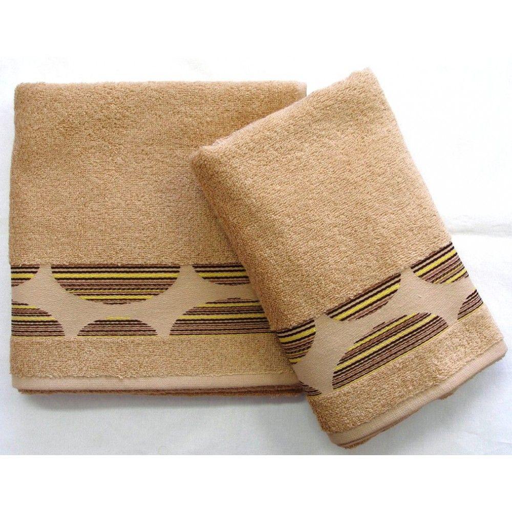 Ručník a osuška Mambo 450g/m2 ručník béžový, rozměr 50x100 cm.