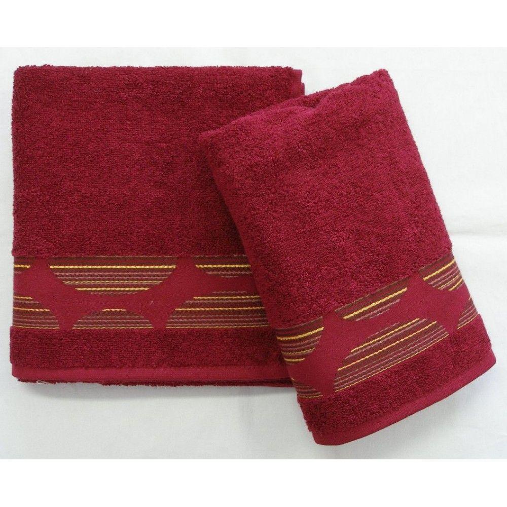 Ručník a osuška Mambo 450g/m2 ručník bordó, rozměr 50x100 cm.