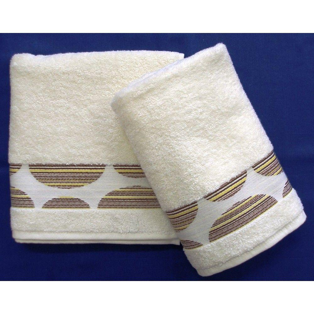 Ručník a osuška Mambo 450g/m2 ručník smetanový, rozměr 50x100 cm.