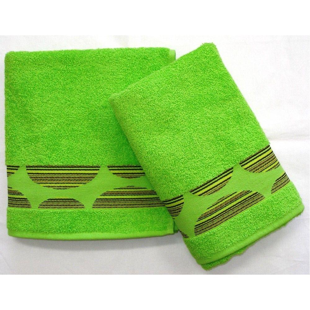 Ručník a osuška Mambo 450g/m2 ručník zelený, rozměr 50x100 cm.