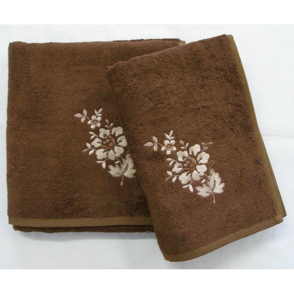 Bambusový ručník a osuška Paloma 500 g/m2 ručník čokoládový, rozměr 50x100 cm.