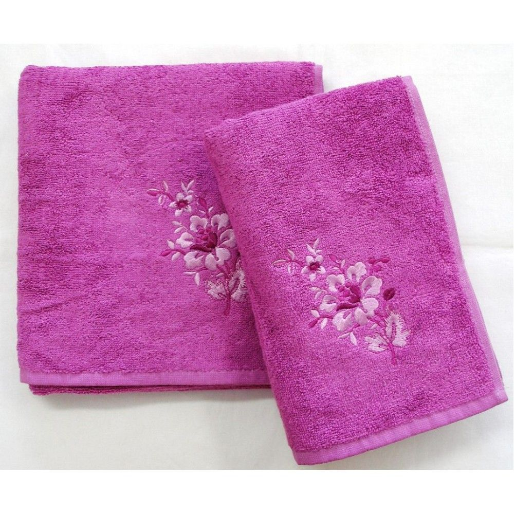 Bambusový ručník a osuška Paloma 500 g/m2 ručník cyklaménový, rozměr 50x100 cm.