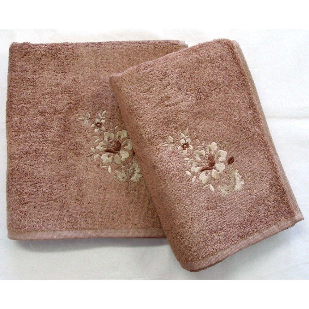 Bambusový ručník a osuška Paloma 500 g/m2 ručník oříškový, rozměr 50x100 cm.