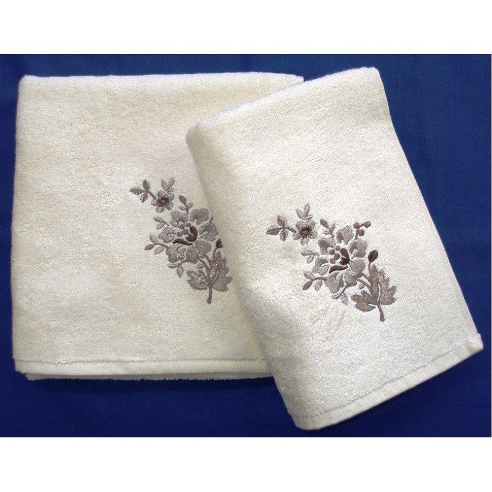 Bambusový ručník a osuška Paloma 500 g/m2 ručník smetanový, rozměr 50x100 cm.