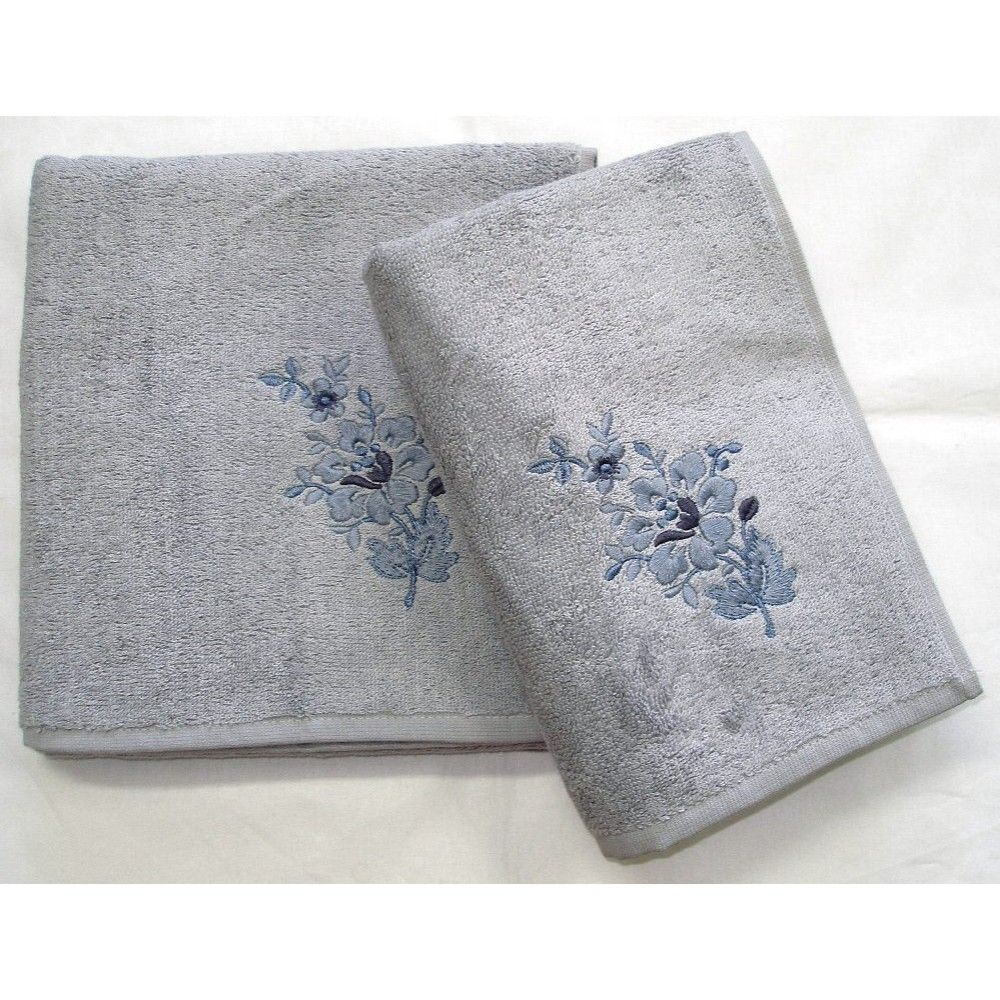 Bambusový ručník a osuška Paloma 500 g/m2 ručník šedý, rozměr 50x100 cm.