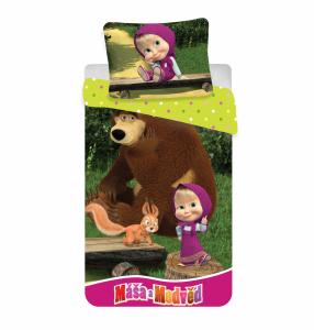 Bavlněné povlečení Máša a Medvěd 01