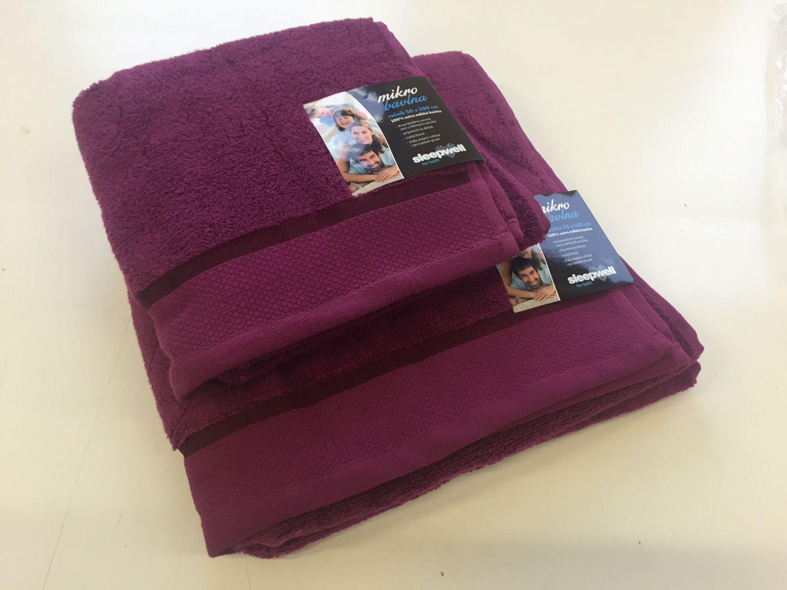 Ručník a osuška Star borůvková ručník borůvkový, rozměr 50x100 cm.