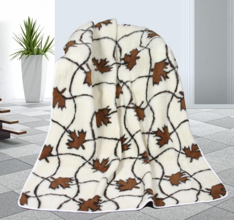 Vlněná deka 155 x 200 cm javor - evropské merino
