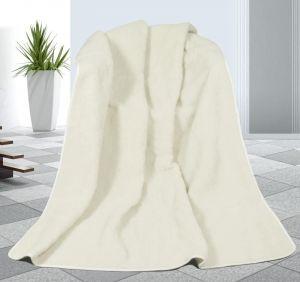Zvětšit fotografii -  Vlněná deka DUO 155 x 200 cm bílý beránek - australské merino