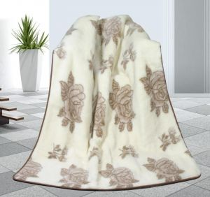 Zvětšit fotografii - Vlněná deka DUO 155 x 200 cm růže - australské merino