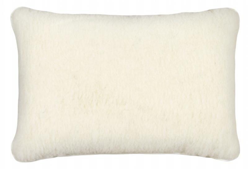 Vlněný polštář 40 x 60 cm bílý - evropské merino