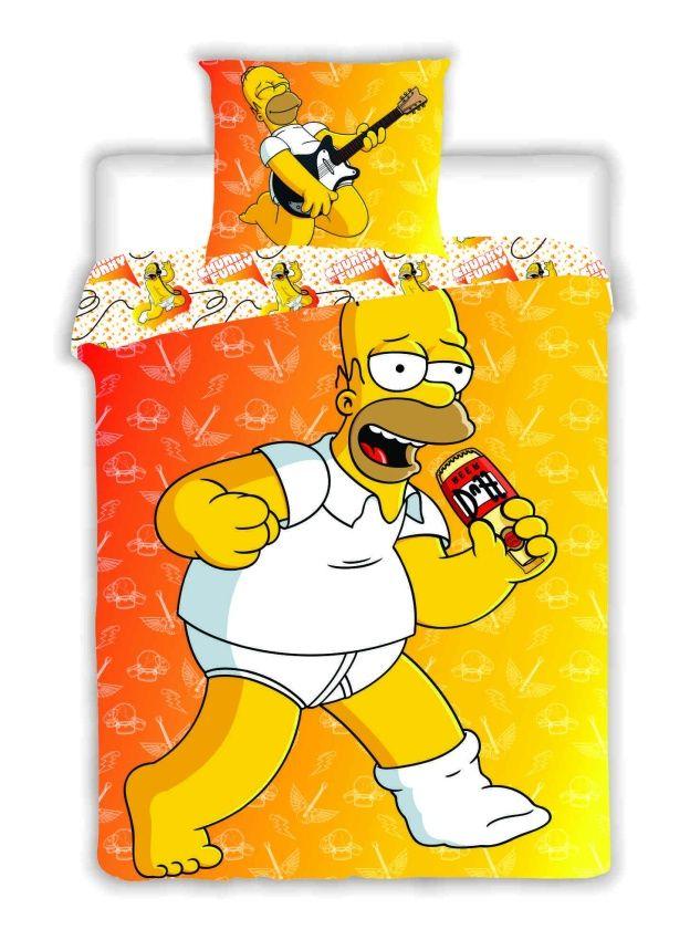 Povlečení bavlna Simpsons - Homer 2015 1x 140/200, 1x 90/70