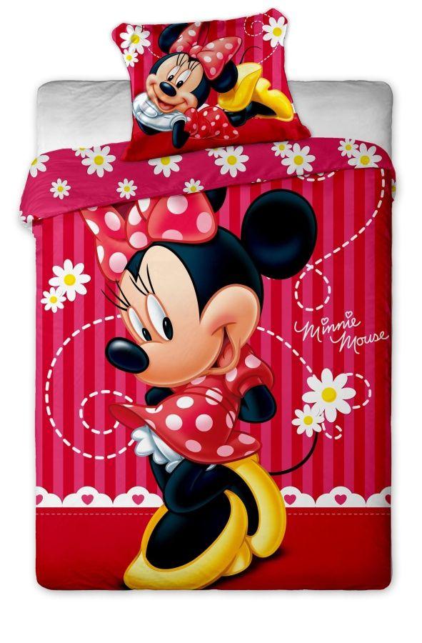 Disney - Minnie stripe 2015 bavlněné povlečení 1x 140/200, 1x 90/70