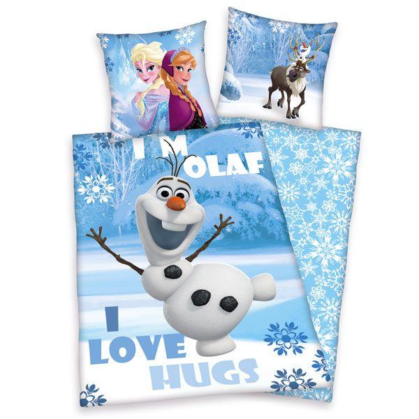 Frozen - Ledové království Olaf bavlněné povlečení 1x 140/200, 1x 90/70