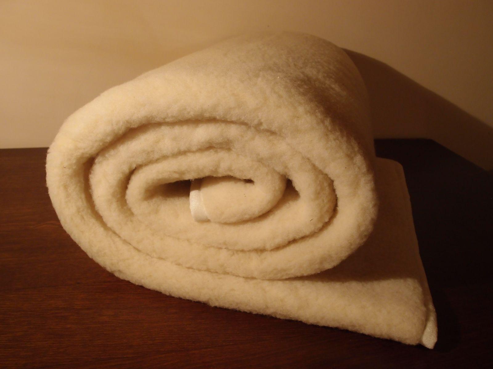 Vlněný matracový chránič z vlněného včesu 90 x 200 cm
