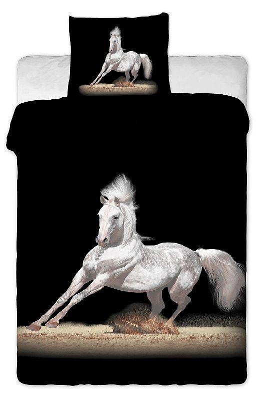 Povlečení fototisk Bílý kůň 1x 140/200, 1x 90/70