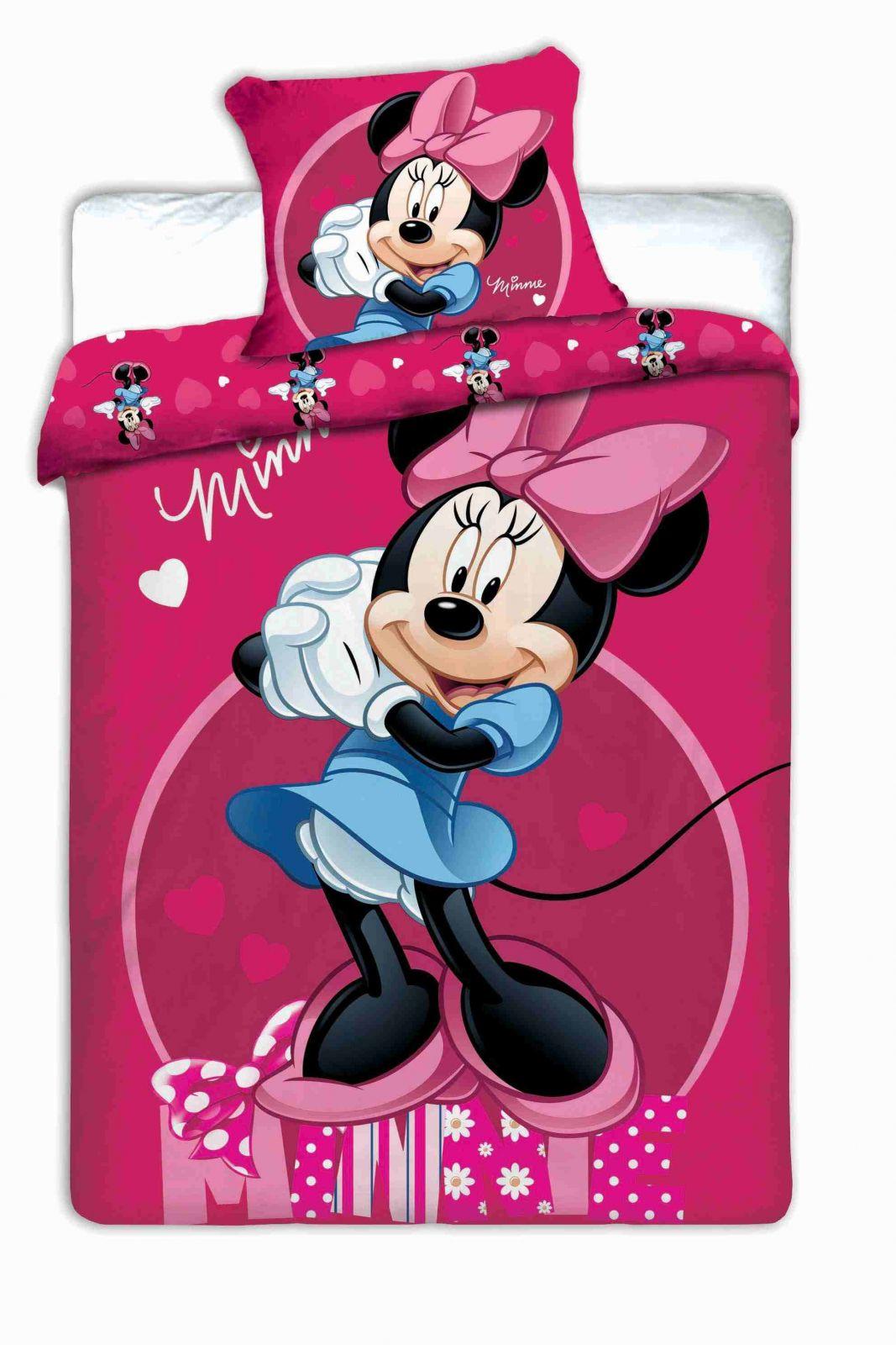 Povlečení Minnie dark pink 1x 140/200, 1x 90/70