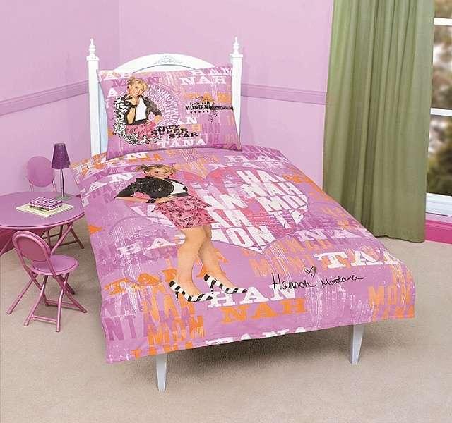 Pro tennegery kvalitní bavlněné ložní povlečení Hannah Montana Disney, Jerry Fabrics
