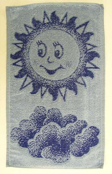 Dětský ručník - Sluníčko modré