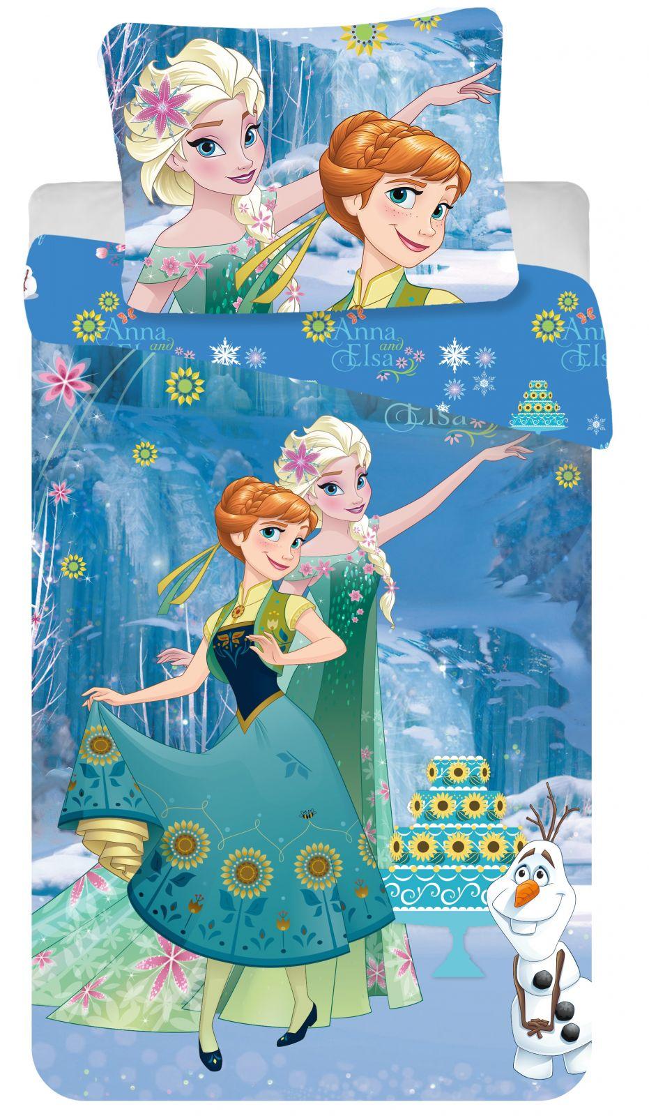 Bavlněné povlečení Disney Frozen cake 1x 140/200, 1x 90/70