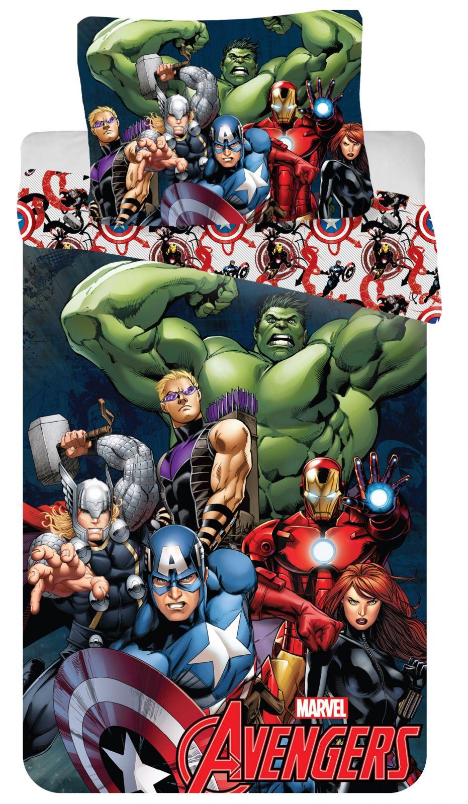 Dětské bavlněné ložní povlečení Avengers 2016