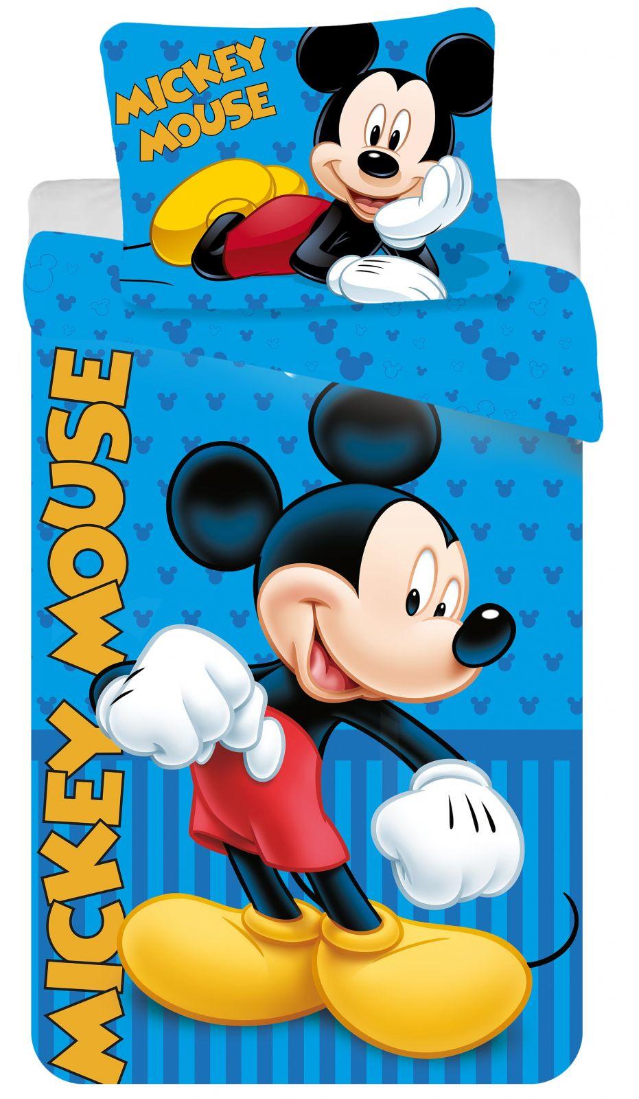 Bavlněné povlečení Mickey blue 2016 1x 140/200, 1x 90/70