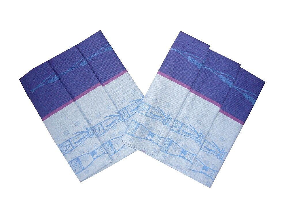 Utěrka z bavlny Extra savá Vintage fialová, v balení 3 ks