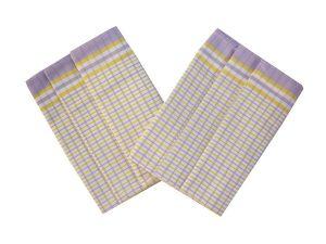 Utěrka Bambus 50x70 - Kostka malá fialovo žlutá balení 3 ks