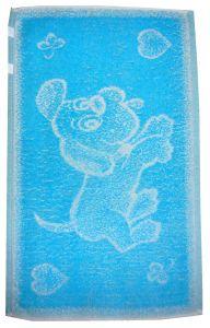 Dětský ručník Pejsek tyrkysový