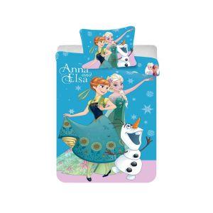 Bavlněné povlečení Disney - Frozen blue