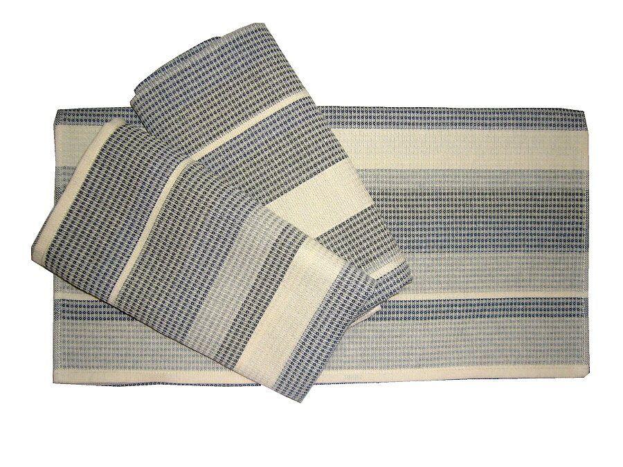 Pruhovaný bavlněný vaflový ručník, Frotex