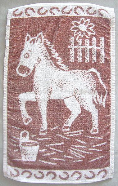 Dětský froté ručník Koník hnědý