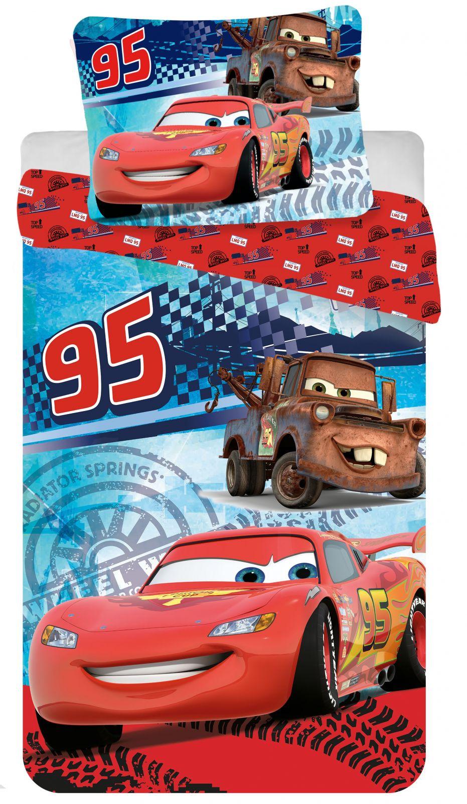 Povlečení Cars speed 1x 140/200, 1x 90/70