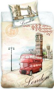 Bavlněné povlečení fototisk London bus