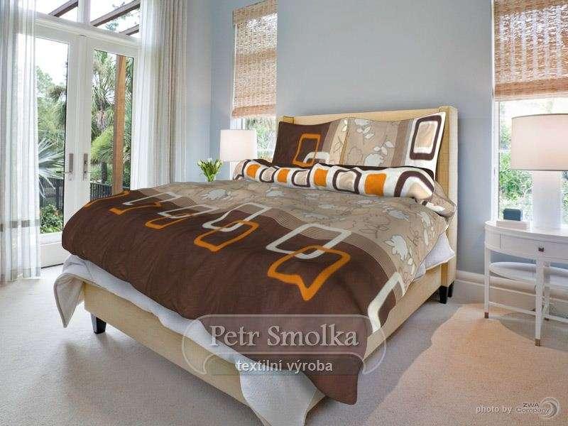 Andrea oranžový čtverec bavlněné ložní povlečení