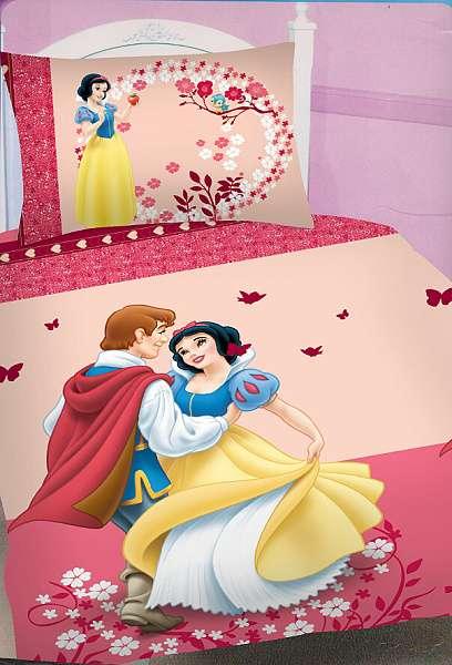 Dětské bavlněné ložní povlečení Disney - Sněhurka Pink
