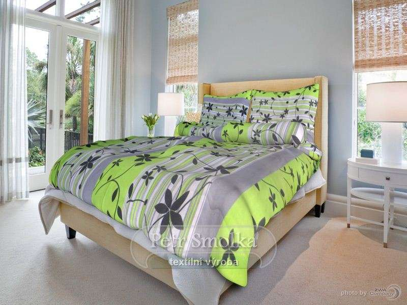 Liana zelená bavlněné ložní povlečení