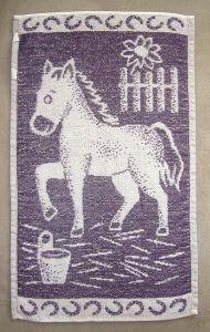 Dětský ručník - Koník fialový