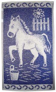 Dětský ručník Koník tmavě modrý