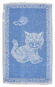 Dětský froté ručník - Kotě světle modré
