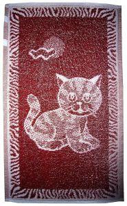 Dětský ručník Kotě vínové